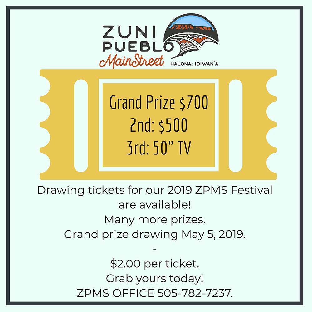 5ede3ded6df Late registration fee is  35 PLUS donation of an art raffle item valued at   25 for Zuni residents. Late registration fee is  60 PLUS donation of an ...